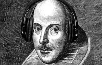 shakespeare-with-headphones henryeliot.co.uk